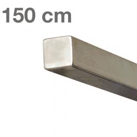 Main courante carrée en acier inoxydable 150 cm