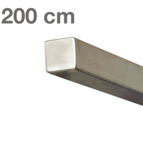 Main courante carrée en acier inoxydable 200 cm