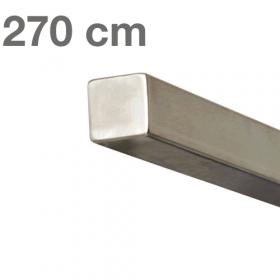 Main courante carrée en acier inoxydable 270 cm
