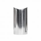 Support de main courante design en acier inoxydable - Poli - 2 pièces