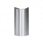 Support de main courante design en acier inoxydable - Brossé - 2 pièces